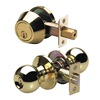 Master Lock BAC0603 Knob Lockset, Light Duty, Entry, Brass