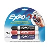 Expo 81503 Dry Erase Marker Set, Fine, Black, Blue, Red