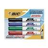 Bic BICGDEMP41ASST Dry Erase Marker, Blk, Blu, Grn, Red, Pk 4