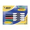 Bic BICDECFP41ASST Dry Erase Marker, Pocket-Style, Assrtd, Pk4