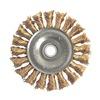 Weiler 8271 Knot Wire Wheel, 3  D, 1/2-3/8 AH, Bronze