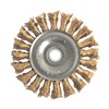 Weiler 13121 Knot Wire Wheel, 4  D, 5/8 In-11 AH, Bronze