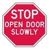 Lyle ST-027-6HA Stop Sign, 6 x 6In, WHT/R, AL, ENG, Text, SURF