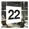 Stranco Inc HPS-FS1212-22 Hanging Aisle Sign, Legend 22
