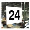 Stranco Inc HPS-FS1212-24 Hanging Aisle Sign, Legend 24