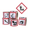 Ghs Safety GHS1265 Pictogram Label, Black/Red, Glossy Paper
