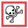 Ghs Safety GHS1273 Pictogram Sign, Black/Red, Vinyl