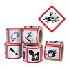 Ghs Safety GHS1259 Pictogram Label, Black/Red, Glossy Paper