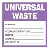 Brady 60362 Waste Label, 6 In. H, PK 100