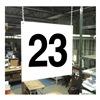 Stranco Inc HPS-FS1212-23 Hanging Aisle Sign, Legend 23