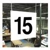 Stranco Inc HPS-FS1212-15 Hanging Aisle Sign, Legend 15