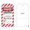 Brady CLT2 Danger Tag, 7-1/2 x 4 In, Rld Brs, PK25