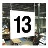 Stranco Inc HPS-FS1212-13 Hanging Aisle Sign, Legend 13