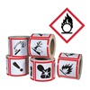 Ghs Safety GHS1257 Pictogram Label, Black/Red, Glossy Paper
