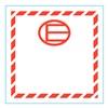 Stranco Inc HMSL-450E-P500 Label, E, 4.5 In x 4.5 In, 500 Labels