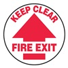 Accuform Signs MFS702 Floor Sign, Keep Clear, 17 In. Dia.