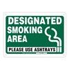 Brady 103844 Smoking Policy Sign