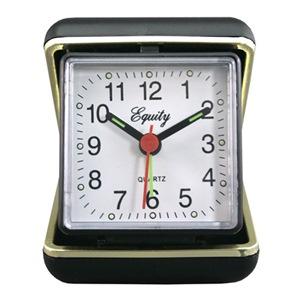 Geneva Clock BLK QTZ Alarm Clock