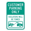 Lyle T1-1031-EG_12x18 Sign, Customer Parking Only, 18 x12 In