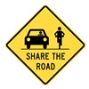 Lyle T1-1030-EG_24x24 Sign, Share The Road, 24 x24 In