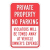 Lyle T1-1091-HI_12x18 Sign, Private No Parking, 18 x12 In