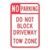 Lyle T1-1099-HI_12x18 Sign, No Parking, 18 x12 In
