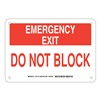 Brady 127146 Exit Sign, Aluminum, 7 x 10 in, Red/White