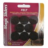 "Magic Sliders L P 61414 16PK 1"" BRN Felt Pad"