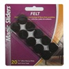 "Magic Sliders L P 61215 20PK 3/4"" BRN Felt Pad"