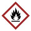 Brady 118823 Label, GHS Flammable, Vinyl, 4/Sheet