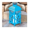 "Northern International Inc GL28069BL 11"" Turqu Solar Lantern"