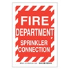 Brady 123776 Fire Dept Sign, 14 x 10In, White/Red