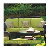 Chicago Wicker & Trading CO D-CUSH32803S-P104/P105-W SS 6PC Kiw Sofa Cushion
