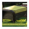 Chicago Wicker & Trading CO D-CUSH3280O-P104/P105-W Stainless Steel Kiwi Ottoman Cushion