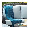 Chicago Wicker & Trading CO D-CUSH3280LS-F523 Stainless Steel 4PC Blue Sett Cushion