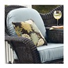 Chicago Wicker & Trading CO D-CUSH3280TAT-F523 Stainless Steelh4PC Blue Tete Cushion