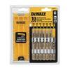 DEWALT DW3741C 10Pc T Shank Jig Blade