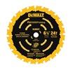 """DEWALT DW9199 6-1/2"""" 24T Fram Blade"""