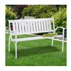 Midas-Lin Co Ltd-Import C630-19 White Heavy Duty Faux Park Bench