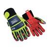 Ringers Gloves 249-14 Anti-Vib Gloves, Hi-Vis Green, XXXXL, PR