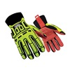 Ringers Gloves 270-10 Cut Rest Gloves, Synth Leather Palm, L, PR