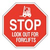 Brady 124513 Stop Sign, 24 x 24In, White/Red