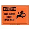 Brady 83892 Warning Sign, 3-1/2 x 5In, Black/Orange