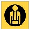 Brady 84554 Info Sign, 2-1/4 x 2-1/4In, Black/Yellow