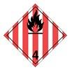 Ghs Safety GHS1288VY Label, White/Red/Black, Vinyl, PK 100