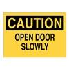 Brady 87775 Door Sign, 3-1/2 x 5In, Black/Yellow