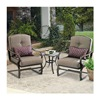 Courtyard Creations SUS3Q1T Madison 3 Piece Cushioned Chat Set