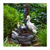 "Alpine Corporation WCT670 23""Duck Family Fountain"