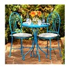 Courtyard Creations S11S175Y-T Malibu Turquoise Bistro Set