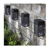 Forever Gifts Inc SS0070-PPW0 Fs 4Pk Sol Wall Light